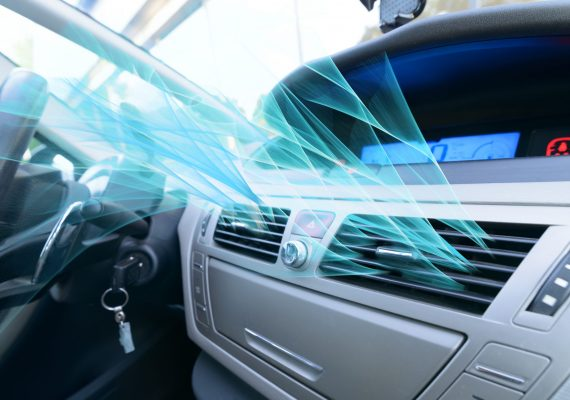 Driver,Hand,Tuning,Air,Ventilation,Grille,,Fresh,Air,Is,Coming